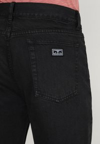 Obey Clothing - HARDWORK - Džíny Relaxed Fit - dusty black - 5