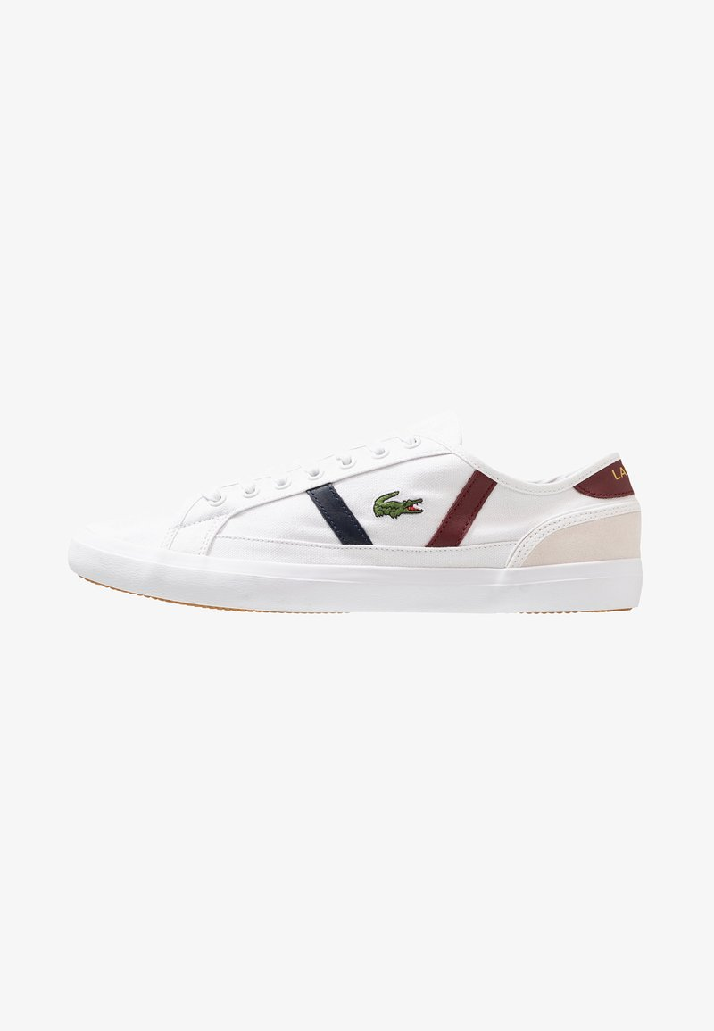 Lacoste - SIDELINE - Trainers - white/dark red/navy