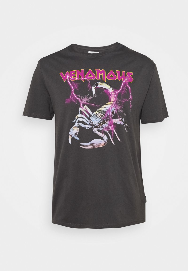 YOURTURN - Print T-shirt - dark grey