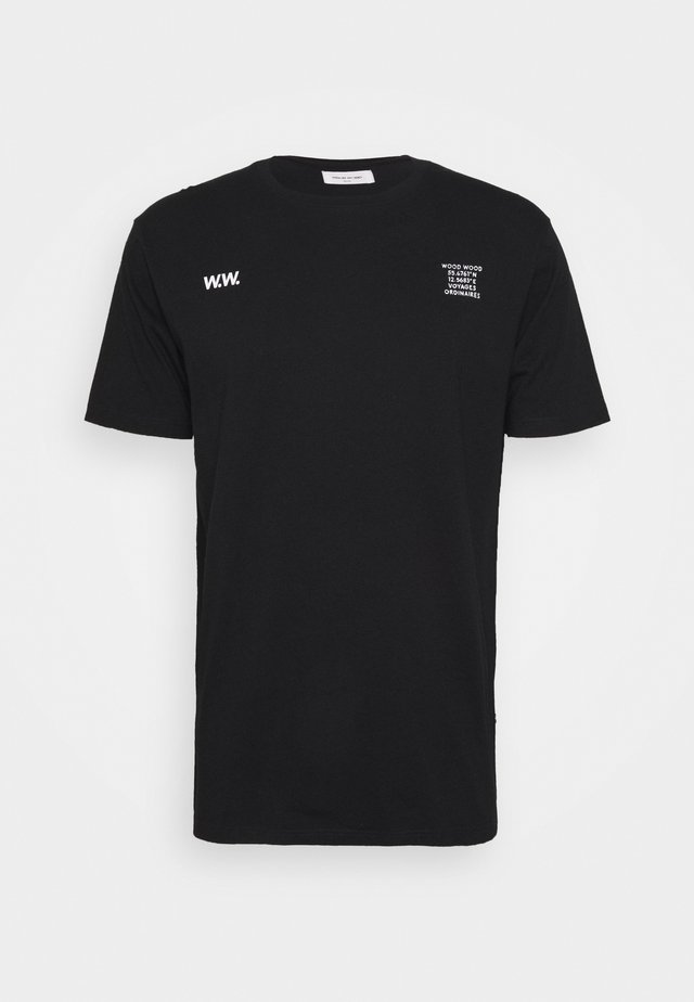 VOYAGES - T-shirt con stampa - black