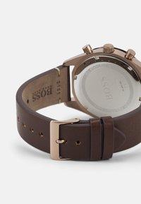 BOSS - SANTIAGO - Chronograph watch - brown/grey - 1