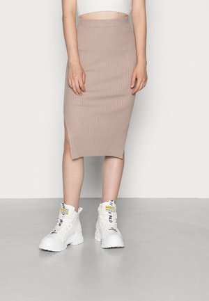 ALANA SKIRT - Pencil skirt - mocha