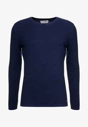 ZIGZAG STRUCTURED CREWNECK - Jersey de punto - sky captain blue