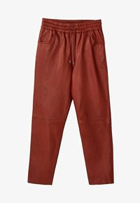 Massimo Dutti - Leather trousers - bordeaux - 5
