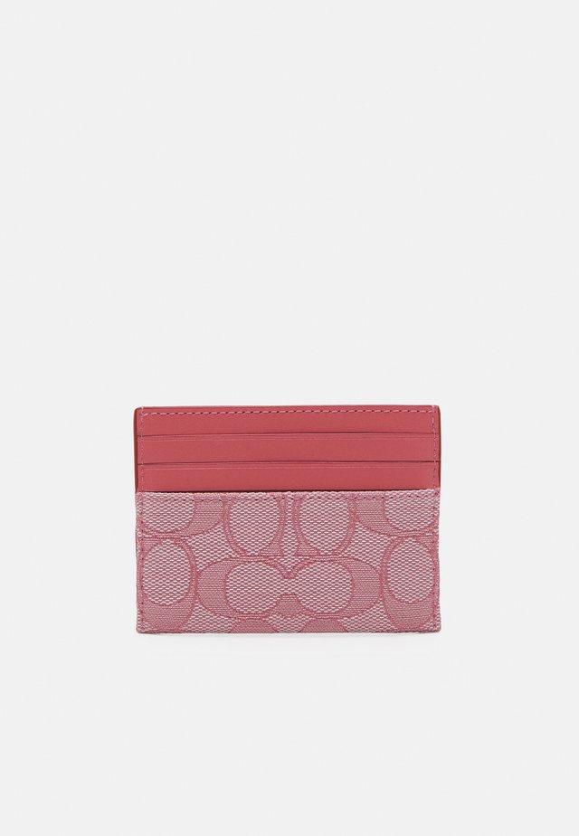 SIGNATURE FLAT CARD CASE - Portfel - taffy taffy