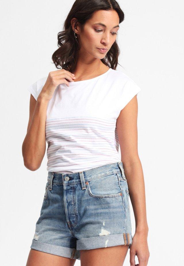 DAMPIT - T-shirt imprimé - white