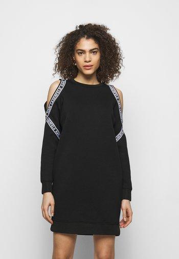 COLD SHOULDER DRESS - Day dress - black
