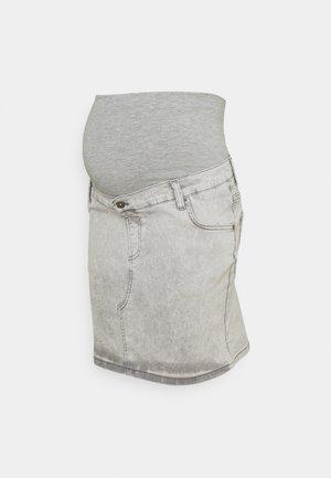 SKIRT  - Denim skirt - grey denim