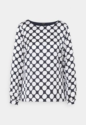 PRINTED BLOUSE - Long sleeved top - marine