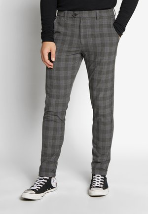 JJIMARCO JJCONNOR CHECK - Trousers - grey