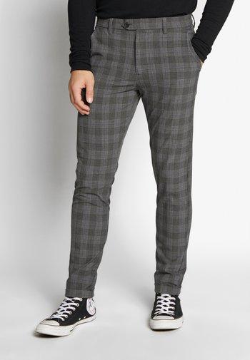 JJIMARCO JJCONNOR CHECK - Kalhoty - grey
