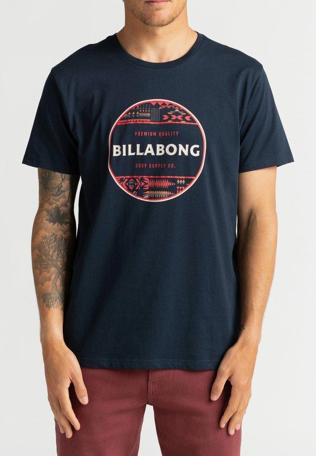 ROTOR FILL  - Print T-shirt - navy