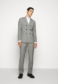 HUGO - Oblekové kalhoty - silver - 1