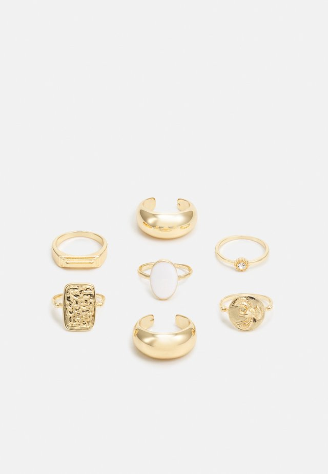 FGLENA SIGNET 7 PACK - Ringe - gold-coloured