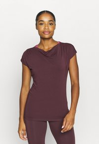 Curare Yogawear - WASSERFALL - T-shirt basic - bordeaux - 0