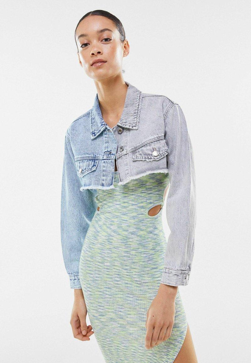 Bershka - Denim jacket - light-blue denim