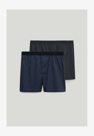 2 PACK - Pants - blue-black denim