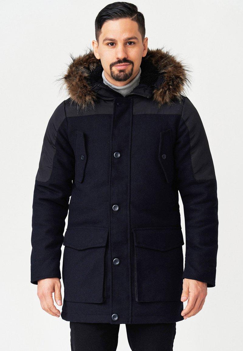 INDICODE JEANS - Winter coat - navy mix