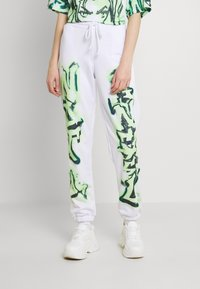 Jaded London - NOT YOUR PRINT JOGGERS - Tracksuit bottoms - green - 0