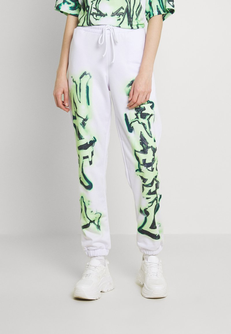 Jaded London - NOT YOUR PRINT JOGGERS - Tracksuit bottoms - green