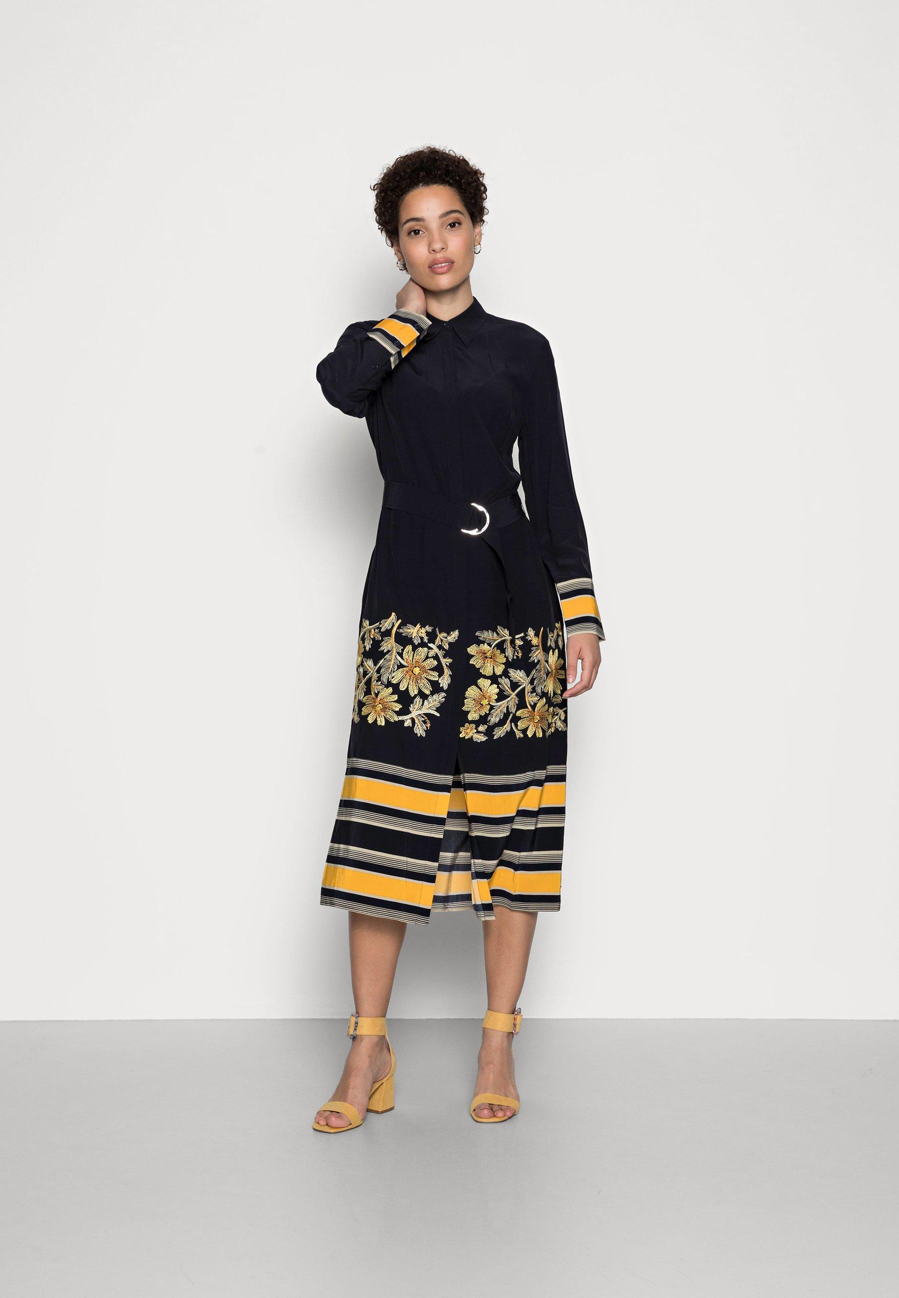 Damen MIDI DRESS  - Blusenkleid