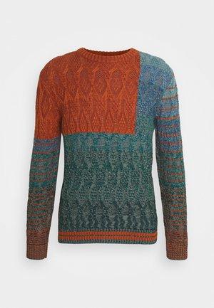 MAGLIA MANICA LUNGA GIROCOLLO - Pullover - multi-coloured/blue/orange