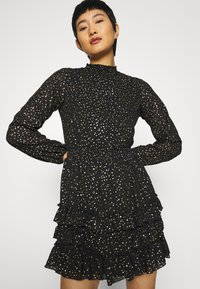Dorothy Perkins - SPOT MINI RUFFLE - Day dress - black - 3