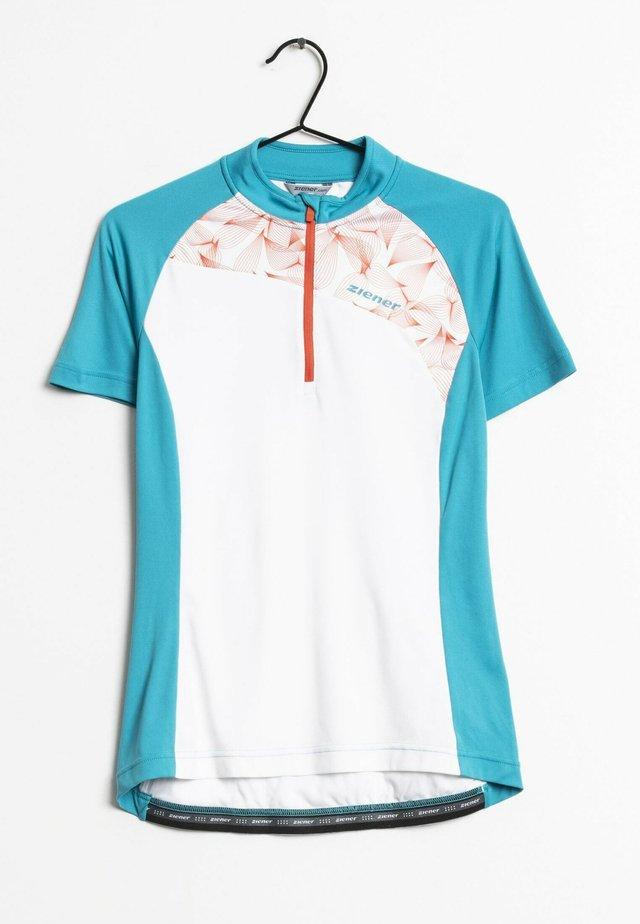 T-shirt print - white/blue