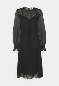 True Violet Petite - FIT AND FLARE MIDII DRESS - Denní šaty - black - 0
