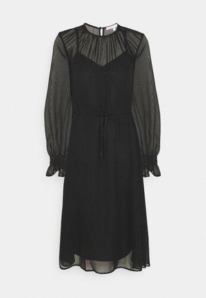 FIT AND FLARE MIDII DRESS - Vestido informal - black