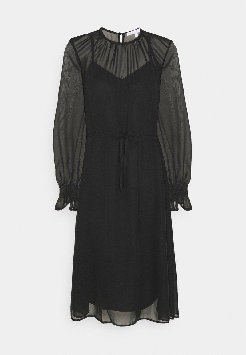 True Violet Petite - FIT AND FLARE MIDII DRESS - Denní šaty - black