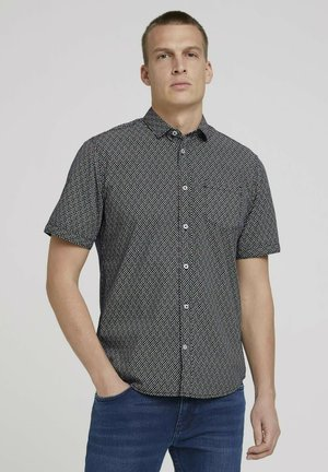 Shirt - navy colourful design