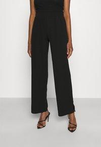 Noisy May - NMJASA LONG PANTS - Trousers - black - 0