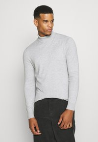 Burton Menswear London - FINE GAUGE ROLL  - Trui - light grey - 0