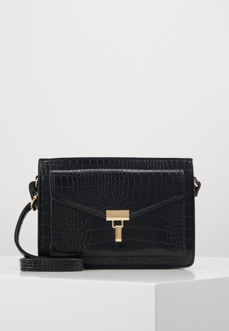 New Look - PAZ CROC STRUCTURED XBODY - Across body bag - black