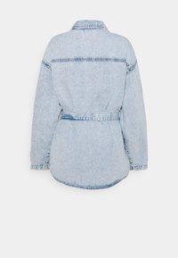 Gina Tricot - BELTED SHACKET - Denim jacket - blue - 1