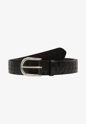 MEN BELT DINO EMBOSS - Pásek - black