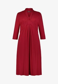 Ulla Popken - Jersey dress - apple red - 1