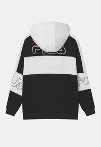Fila - JULIANO BLOCKED  - Zip-up hoodie - black/bright white - 1