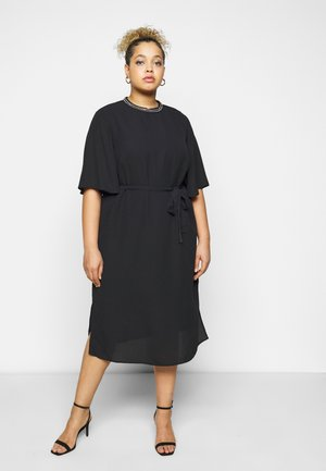 CARIBI BAT SLEEVE CALF DRESS - Day dress - black