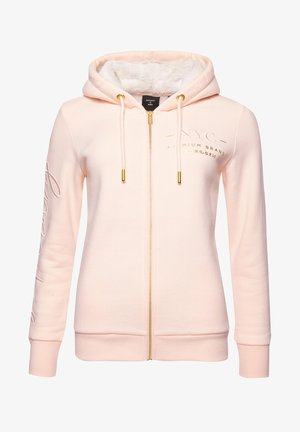 Zip-up hoodie - bright blush
