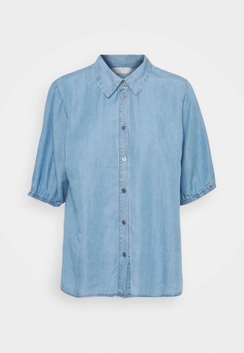 Cream - AMIRA BALLON SLEEVE - Camisa - blue denim