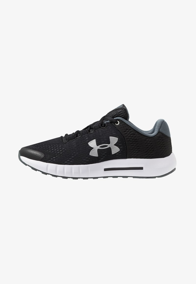 Under Armour - PURSUIT - Neutral running shoes - black/white/metallic silver