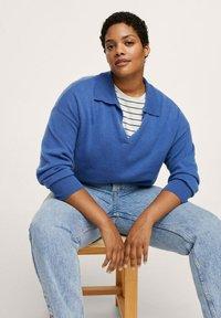 Mango - MOM - Slim fit jeans - mittelblau - 3