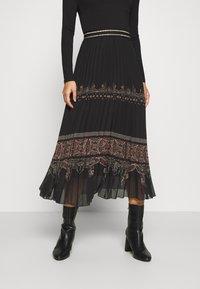 Desigual - FAL MURRAY - A-line skirt - black - 0
