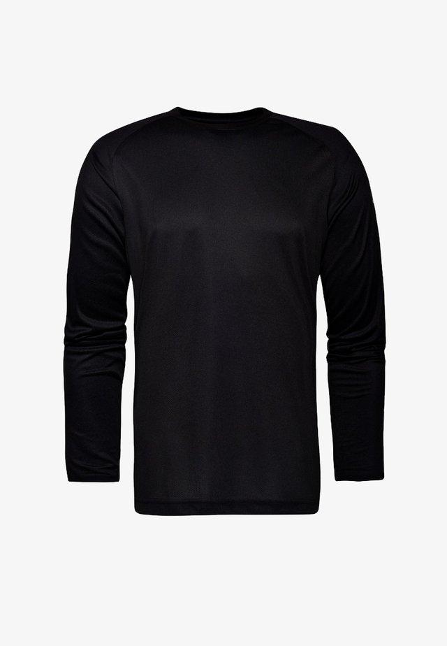 GUNNINGHAM - Long sleeved top -  black