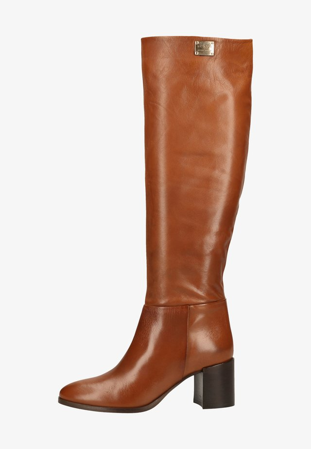 Over-the-knee boots - cuoio
