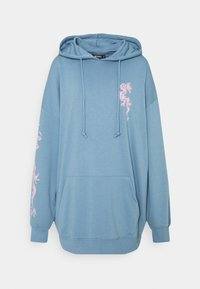 Missguided - DRAGON GRAPHIC HOODIE DRESS - Denní šaty - blue - 0