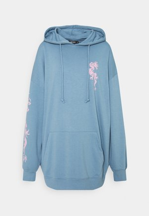 DRAGON GRAPHIC HOODIE DRESS - Denní šaty - blue