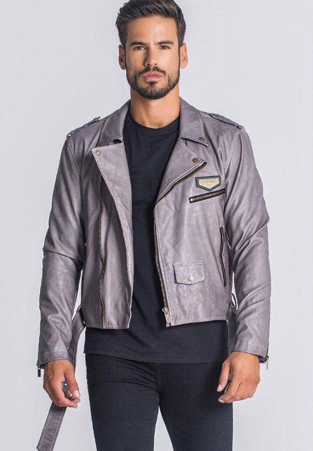 VINTAGE - Veste en similicuir - vintage grey
